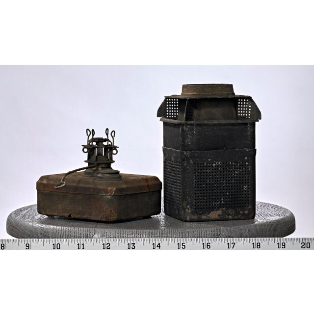 19th Century Industrial Adlake Rare Railroad Switching Light/Lantern For Sale - Image 11 of 13