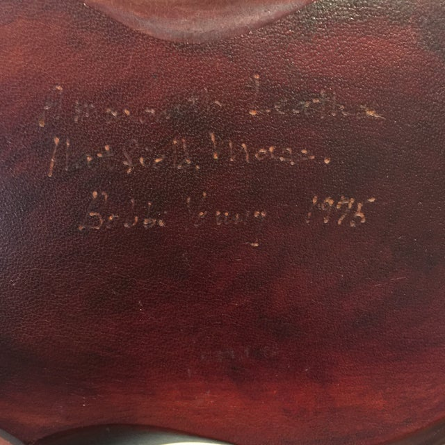 1970s Sculpted Box Made From Leather For Sale - Image 5 of 11