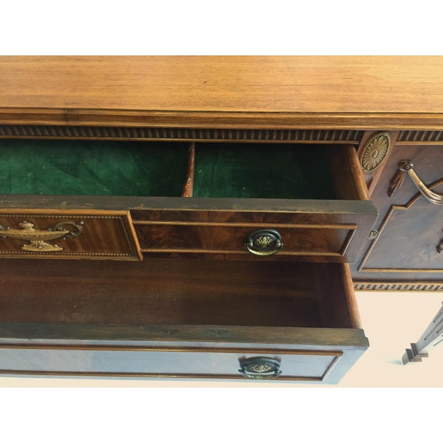Wood Antique Mahogany Sideboard/Credenza For Sale - Image 7 of 8
