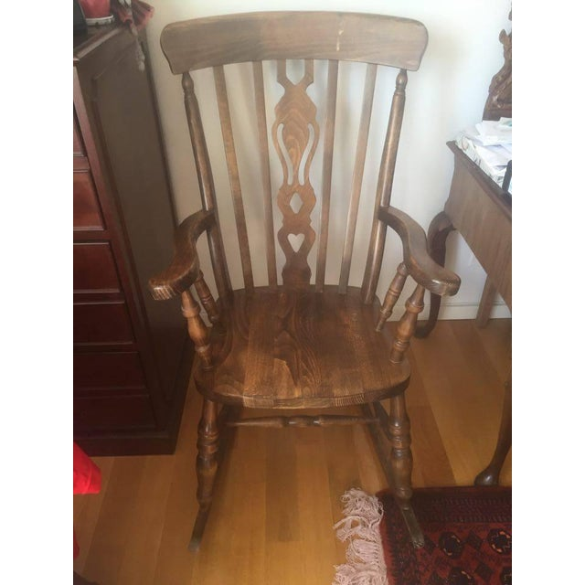 Wooden Rocking Chairs - A Pair - Image 2 of 6