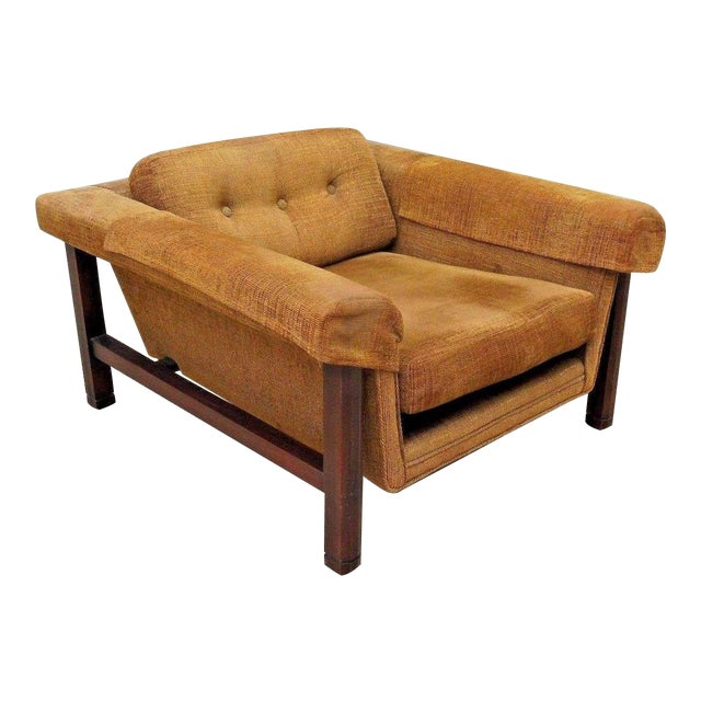 1960's Mid Century Modern Low Slung Lounge Chair For Sale