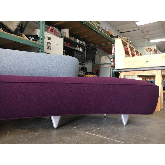 Abstract Vladimir Kagan Serpentine Sofa For Sale - Image 3 of 11