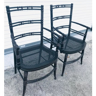 Vintage Baker Furniture Faux Bamboo Chairs - a Pair Preview