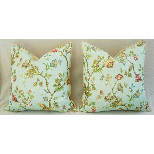 Italian Scalamandre Fleur Des Indes Pillows - Pair - Image 3 of 11