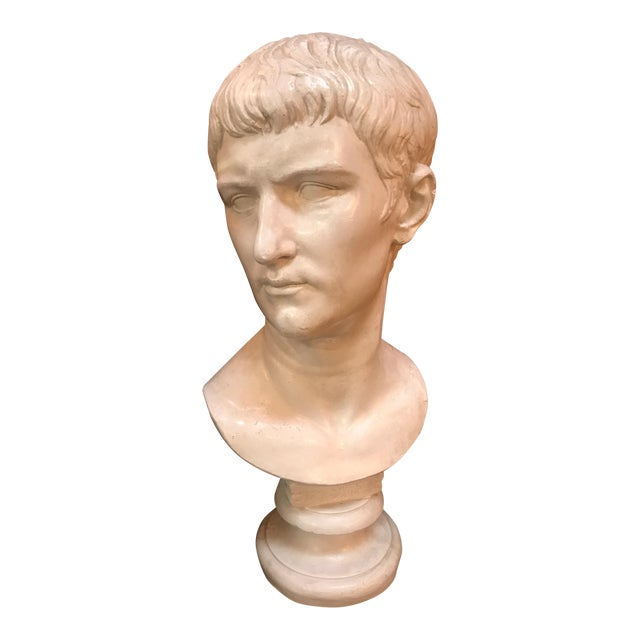 Bust of Ottaviano Augusto, Roman Emperor, Plaster Portrait, Copy in Scale 1/1 For Sale
