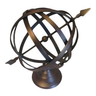 Armillary Sphere Atom With Arrow Iron Decor For Sale
