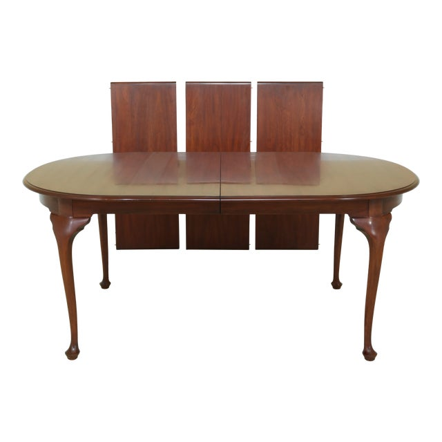 Henkel Harris Oval Cherry Model 2206 Dining Room Table For Sale