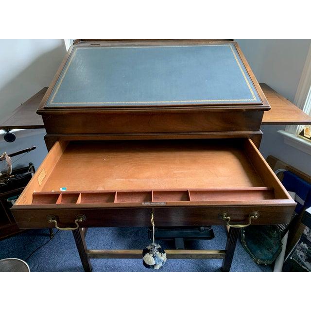 Kittinger 1980s American Classical Kittinger Stand Up Desk For Sale - Image 4 of 6