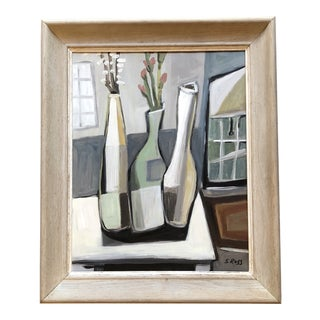 Original Stewart Ross Modernist Still Life Painting For Sale