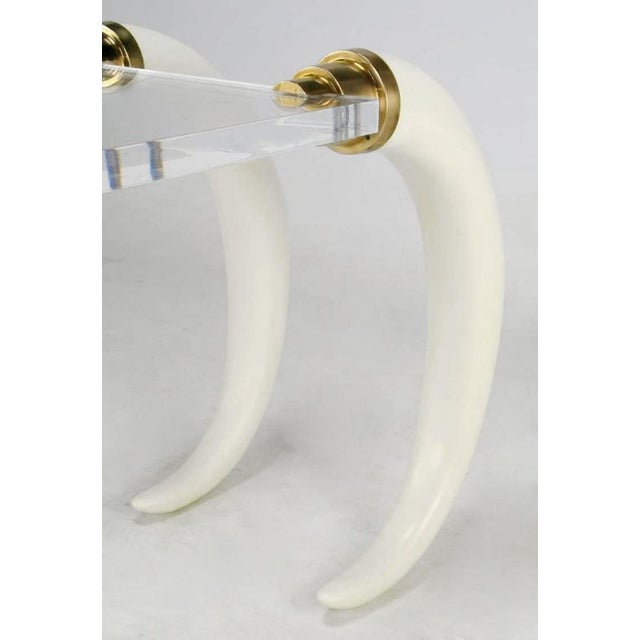 Plastic Elephant Tusk Console Table By Suzanne Dahl & Jerry Barich For Sale - Image 7 of 9