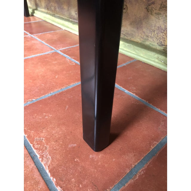 1990s Asian Century Furniture Black Lacquer Altar Console Table For Sale - Image 10 of 13