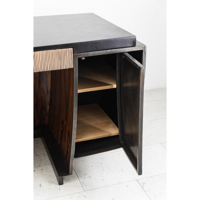 Gary Magakis Blackened Steel and Layered Bronze Desk, Usa, 2019 For Sale - Image 4 of 13