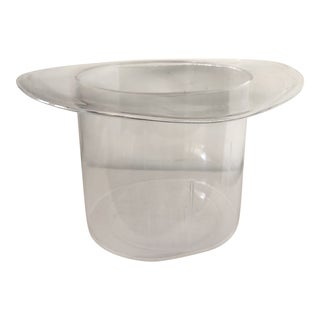Lucite Top Hat Ice Bucket For Sale