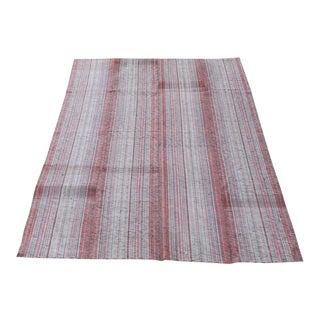 Persian Striped Kilim Rug - 7′ × 10′2″ For Sale