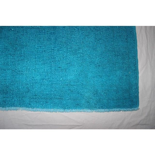 Overdyed Blue Turquaz Rug - 5′10″ × 9′2″ For Sale - Image 4 of 7