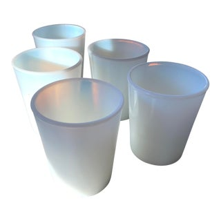 Set of Antique Opalescent Drinking Glasses For Sale