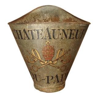 Antique Chateauneuf Du Pape Grape Harvesting Hotte For Sale
