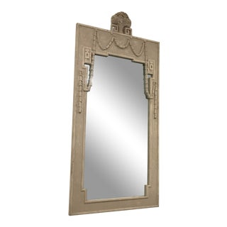 Gray Painted Vertical Mirror For Sale