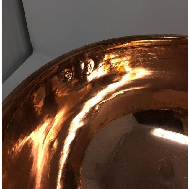 Copper Large Copper Mixing Bowl For Sale - Image 8 of 11