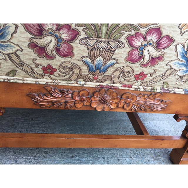 Chinese Chippendale Carved Camelback Sofa - Image 7 of 11