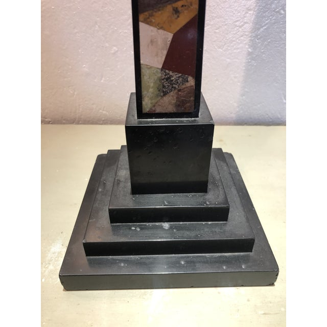 Inlaid Stone Obelisk For Sale - Image 9 of 13