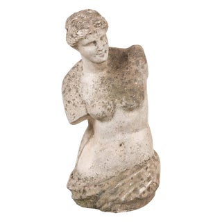English Vintage Carved Stone Figure of Venus De Milo For Sale