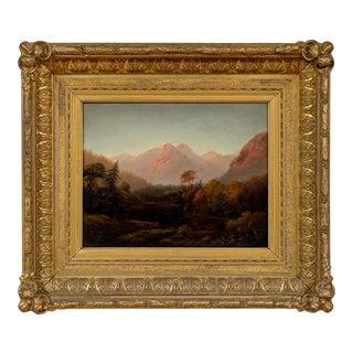"""Mountainous Landscape"" Samuel L. Gerry (American 1813-1891) Oil Painting on Canvas For Sale"