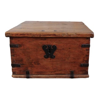 Antique Pine Storage Box For Sale