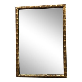 Vintage Gold Frame Chinoiserie Wall Mirror For Sale