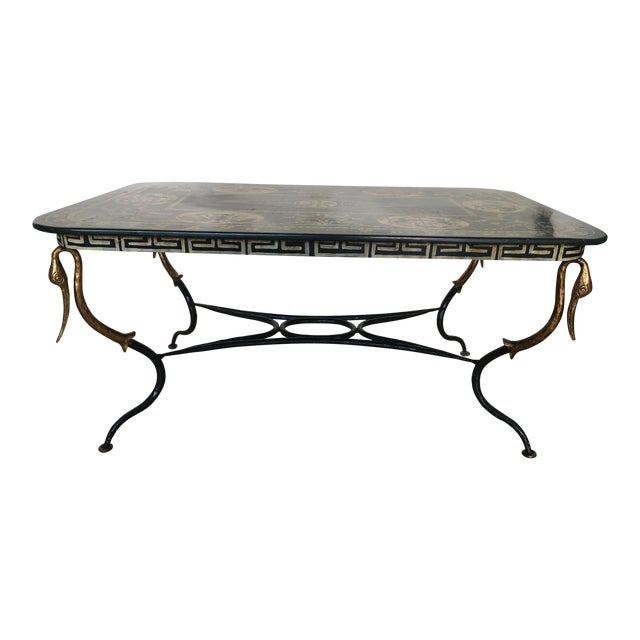 1960s Mediterranean Swan Coffee Table For Sale
