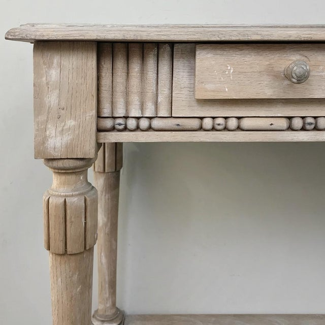 Antique Country French Whitewashed Console ~ Sofa Table For Sale In Dallas - Image 6 of 13
