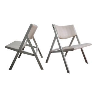 "Pair of Gio Ponti ""Chair of Little Seat"" Chairs For Sale"