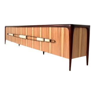 Mexican Modernist Long Credenza Attributed to Eugenio Escudero For Sale