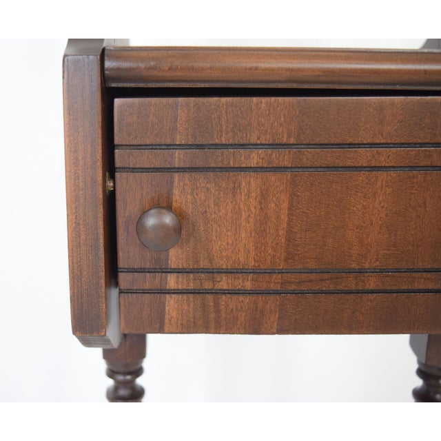 Brown 1900's Vintage Sewing Storage Side Table For Sale - Image 8 of 13