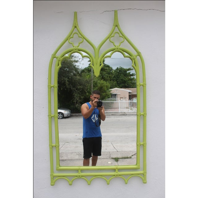 McGuire Bamboo Double Arch Wall Mirror - Image 3 of 9