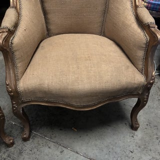 1980s Vintage Gilded Burlap Chairs- a Pair Preview