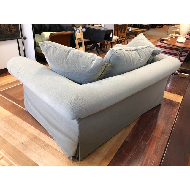 Fabric A.Rudin Rolled Arm Lounge Sofa For Sale - Image 7 of 13