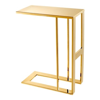 Gold C-Shaped Side Table | Eichholtz Pierre For Sale