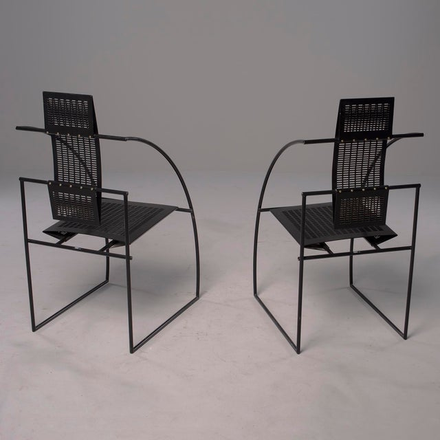 1980s Alias Italian Botta Quinta Op Art Dining Chairs - Set of 8 For Sale - Image 5 of 13