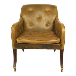 English Regency Sleigh Club Chair For Sale