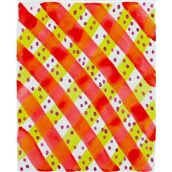 """Abstract """"Lemon Plaid"""" Painting For Sale - Image 3 of 3"""