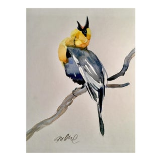 Yellow Headed Blackbird Original Watercolor Painting