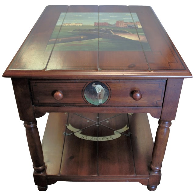 "St. Andrews ""Ireland"" Golf Club Side Table For Sale"
