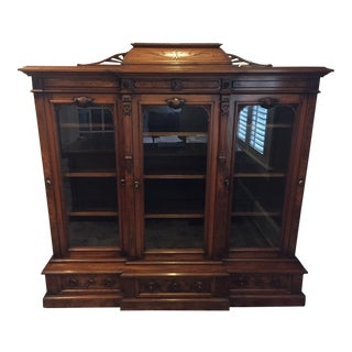 C. 1880 Antique American Herter Bros. Walnut Bookcase
