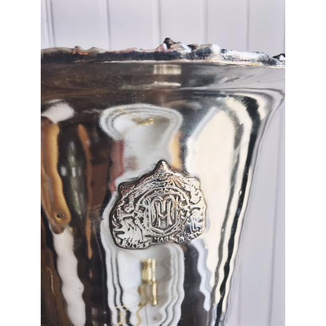 Mid-Century Modern 1960s Mid-Century Modern Silver Plated Wine Chiller Bucket For Sale - Image 3 of 7