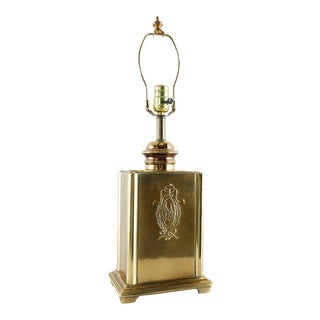 Mid-Century Marbro Brass Footed Lamp For Sale