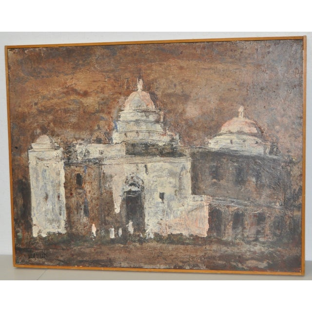Mid-Century Modern Louie Siegriest Modernist Oil Painting C.1950s For Sale - Image 3 of 6