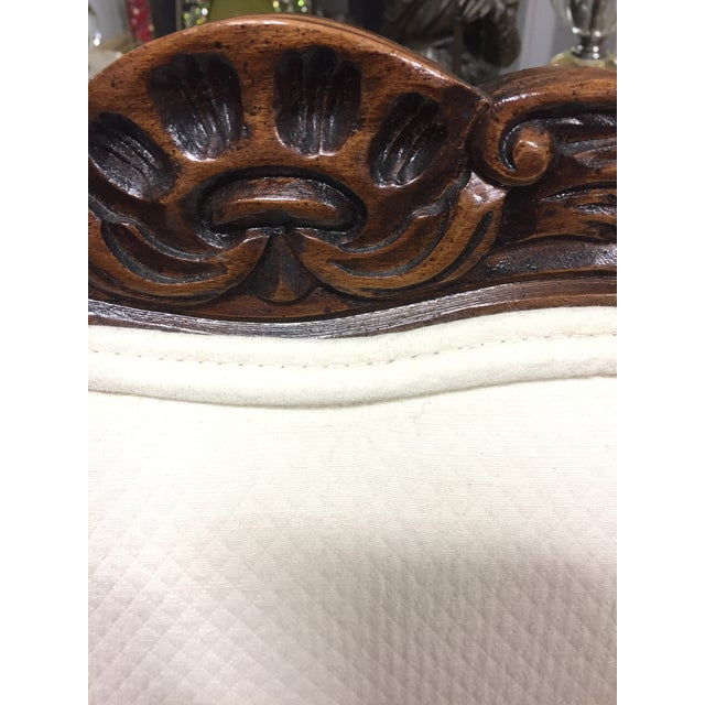 Wood 1980s Bergere Style Sherrill Arm Chairs - a Pair For Sale - Image 7 of 9