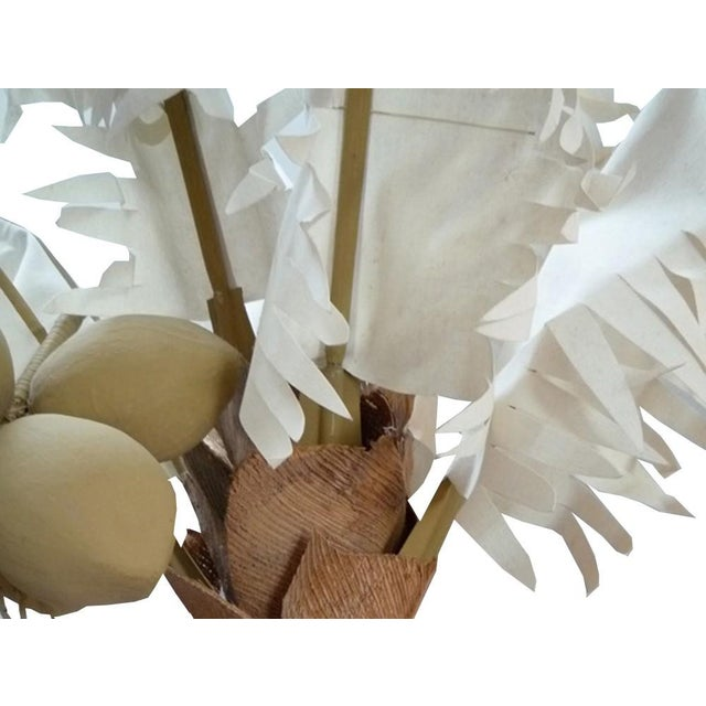 Fantastic vintage fabric palm tree with removable palm fronds and coconut cluster!