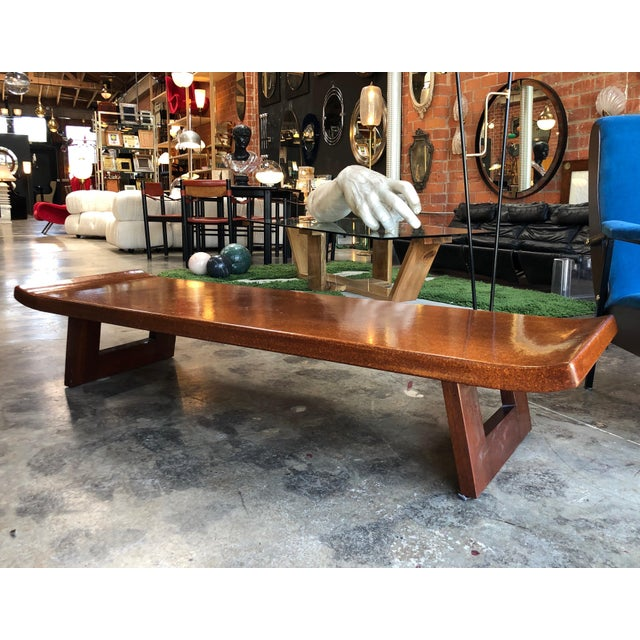 Mid-Century Modern Mid-Century Modern Hardwood Bench For Sale - Image 3 of 9